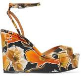 Castaner Zula Printed Canvas Wedge Sandals