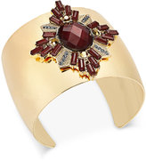 INC International Concepts Gold-Tone Crystal Cluster Cuff Bracelet, Only at Macy's