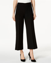 Kasper Cropped Wide-Leg Pants