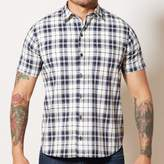 Blade + Blue Navy Blue & White Plaid Short Sleeve Shirt - DAYTON