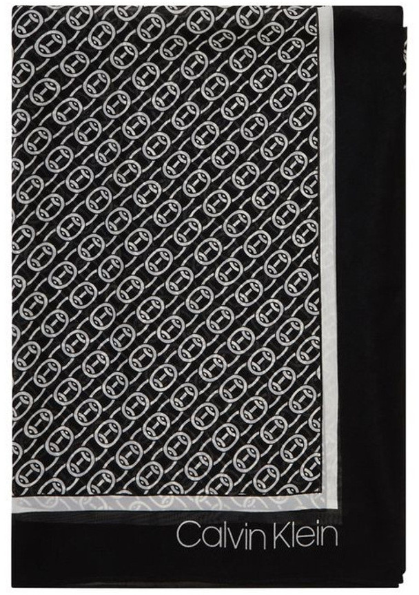 Thumbnail for your product : Calvin Klein A0WS5999 Chain Print Chiffon Square Scarf