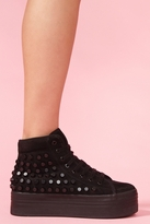 Nasty Gal Homg Stud Sneaker - Black