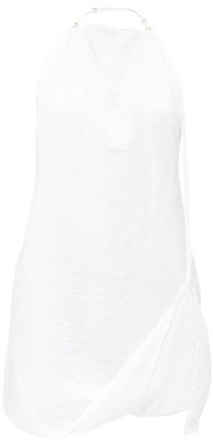 Jacquemus Halterneck Crepe Mini Dress - White