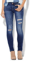 New York & Co. Soho Jeans - Destroyed SuperStretch Legging - Force Blue Wash