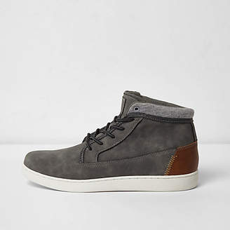 River Island Grey high top trainers