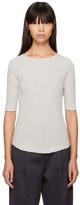 YMC Ecru & Navy Striped Charlotte T-Shirt
