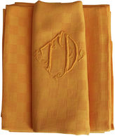 One Kings Lane Vintage Antique French Organic Dyed Napkins, S/7