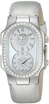 Philip Stein Teslar Women's Mother Of Pearl Diamond Bezel Silver-Tone Watch