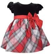 Bonnie Baby Size 6-9M Velvet and Taffeta Party Dress