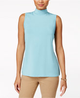 Charter Club Sleeveless Mock-Neck Top, Created for Macy's