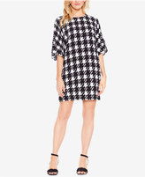 Vince Camuto Houndstooth Dolman-Sleeve Dress