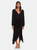 Krisa High Low Surplice Dress