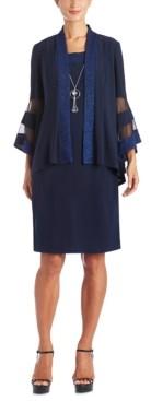 R & M Richards 2-Pc. Necklace Sheath Dress & Jacket