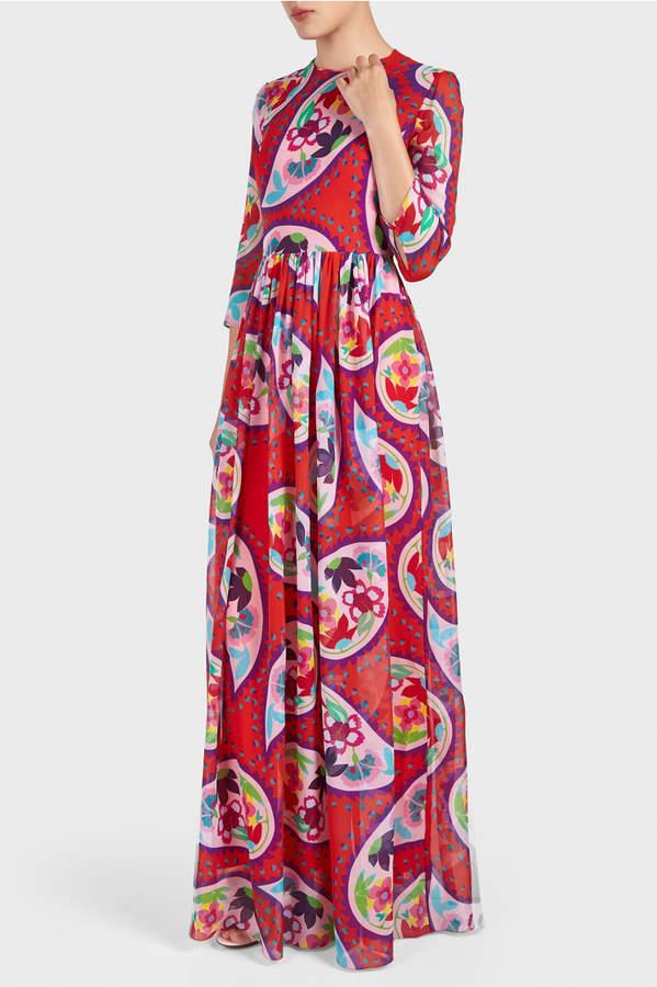 DELPOZO Printed Maxi Dress
