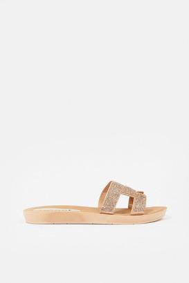 Coast Diamante Flat H- Strap Sandal