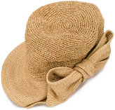 CA4LA bow detail hat - women - Paper - One Size