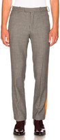 Calvin Klein Fancy Wool Check Marching Band Pants