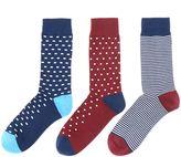 Linea 3 Pack Square Spot Sock