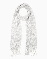 Charming charlie Sparkling Snow Leopard Scarf