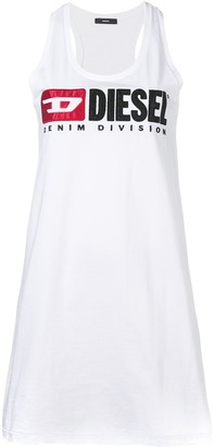 Diesel Logo Embroidered Tank Top