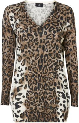 Wallis **TALL Embellished Animal Print Jumper