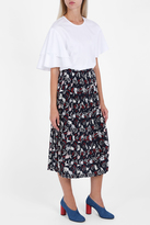 Paul & Joe Cat Pleat Midi Skirt