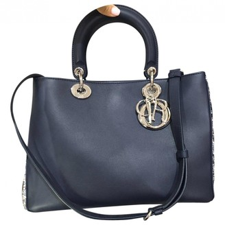 Christian Dior Diorissimo Navy Leather Handbags