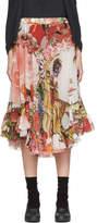 Comme des Garcons Multiclor Ruffled Anime Girl Print Skirt