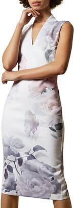 Ted Baker Marah Bouquet Body-Con Dress