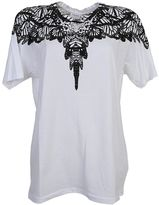 Marcelo Burlon County of Milan Butterfly Printed Filipa Black And White Cotton T-shirt