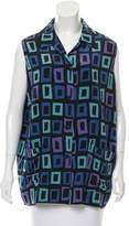 Isaac Mizrahi Printed Silk Top