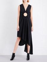 Sharon Wauchob Cutout-detail silk dress