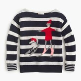 J.Crew Girls' striped wool Olive & Izzy skiing sweater