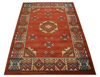 Millwood Pines Seagirt Southwestern Native American Red/Brown Area Rug Millwood Pines