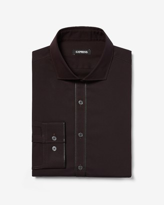 Express Slim Taped Front Tuxedo Dress Shirt