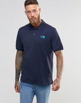 The North Face Polo Shirt With Tnf Logo In Navy