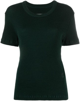 MM6 MAISON MARGIELA Ribbed Knit Top