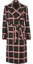 River Island Womens Pink check tied duster coat