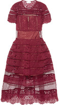 Zimmermann Good Times Guipure Lace Dress - Burgundy