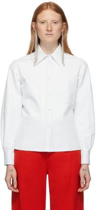 Ports 1961 White Leather Caban Shirt