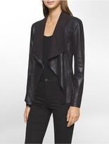 Calvin Klein Asymmetrical Zip Flyaway Jacket