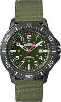 Timex Men's Expedition   Black Case & Green Strap Indiglo Uplander Watch T49944