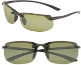 Maui Jim Men's 'Banyans - Polarizedplus2' 67Mm Sunglasses - Gloss Black / Ht Lens