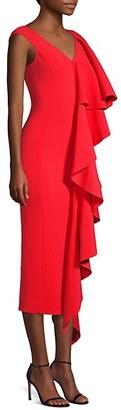 SOLACE London Alora Cascading Ruffle Dress