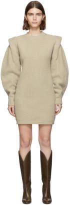 Isabel Marant Beige Knit Beatsy Dress