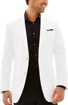 Jf J.Ferrar JF Cotton White Sport Coat-Slim Fit