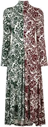Rosie Assoulin contrast panels dress