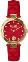 Versus Women's Swarovski Crystal Quartz 2-Hand Leather Strap Watch, 36mm