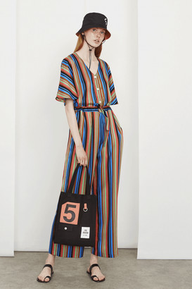 5Preview 5 Preview - Margot Stripe Jumpsuit - Small