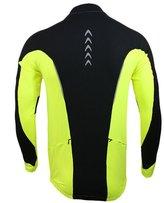 Kilig Mens Winter Jacket Jersey Fleece Warm Up Windproof for Riding Running Sportswear L